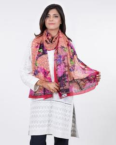 Rust Polyester Scarf for Women