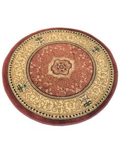 Round Rug - Synthetic - 3X3 - Rose Ivory