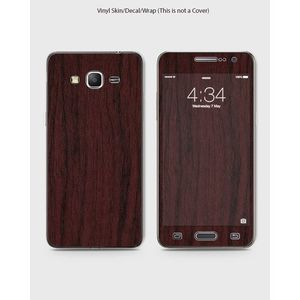 Samsung Grand Prime Plus Phone Skin Front Back And Sides Pear Wood Texture -1Wall205