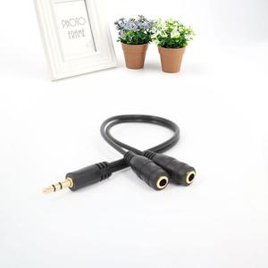 AUX Audio Cable Line 3.5mm Plug to 2 Stereo Socket Spliter Headphones Speakers