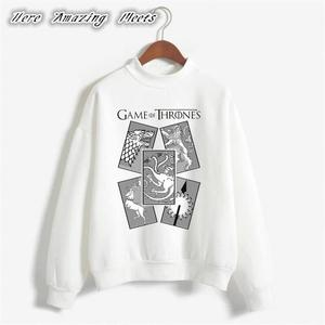 Game Of Thrones Casual Cotton Printed Round Neck Full Sleeves Sweatshirt Winter Wear Export Quality Sweat Shirts Top For Unisex