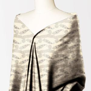 Alkaram studio Silver Collection Cream Lawn 1PC Unstitched Suit For Women -A132222104