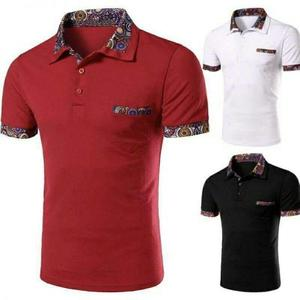 Pack Of 3 Colorful Collar Polo Shirt