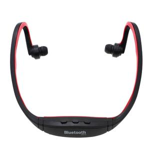 OJADE Outdoor Sports Fitness Mini Plastic Wireless Neckband In-Ear Headphone with Microphone - Red
