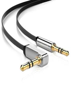 Audio Jack Cable 3.5 Mm To 3.5 Mm Gold Plated Contacts Aux Cable - 3ft