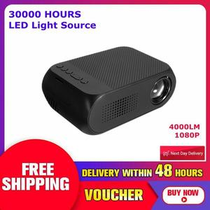 【Free Shipping + Flash Deal】23 Languages 1080P Full HD 1000 Lumens USB Portable Home Theater Projector Projectors Beamer Systems with Remote Control