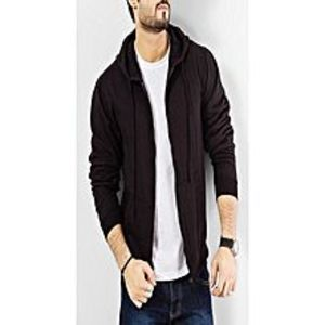 Shop All OnlineBlack Fleece Plain Zipper Hoodie for Men