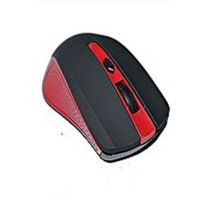 B4Tech 2.4Ghz Wireless Optical Mouse - Black & Red