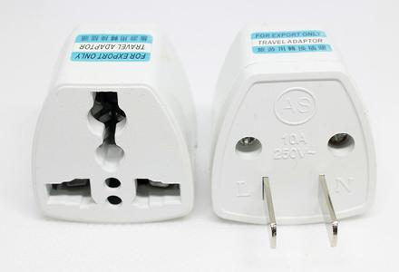 Pack Of 2 Universal 10A 250V 2 Flat Pin US Plug Wall Charger Power Charger Travel Adapter