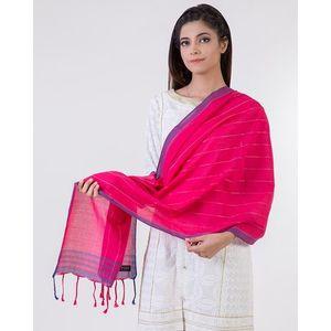 Red Cotton Dupatta For Women