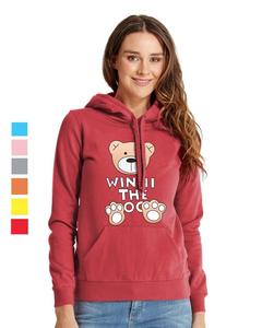 Rex Bazar - Red Winnie The Bear Printed Hoodie For Women