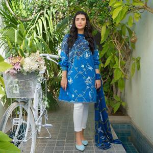 Alkaram studio MAK Summer 2020 Vol-1 Blue Lawn 2 Piece Suit For Women -A132224892