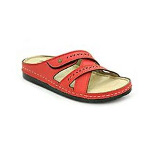 Bata Red TPR Synthetic Slipper Sandals For Women