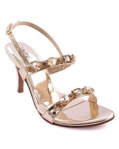 "Silver Women ""AILSA"" Adorned Open Toe Ankle Strap Stiletto Heel Sandals L30092"
