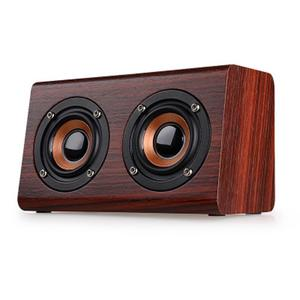 TE W7 Wooden Wireless Bluetooth Speaker HiFi Shock Bass Mobile Phone