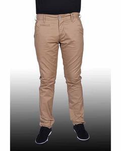 Light Brown Basic Chino Jeans For Men.28