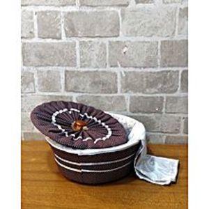 Shop2Home3 Piece Roti Hot Pot Basket - Multi Designs