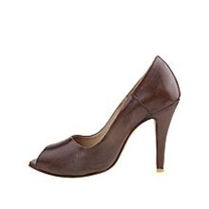 Castillo Alla ModaBrown Leather Coat Shoe for Women - CoatO2