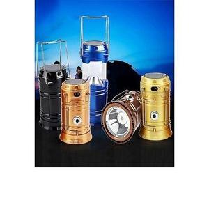 Pack Of 2- Solar Rechargeable Camping Lantern Light & Usb Mini Fan