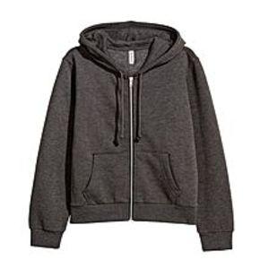 A&GHooded Sweatshirt Jacket - Dark Grey