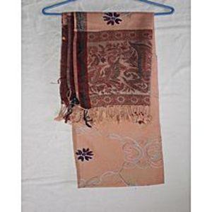 KHOBSURAT DUKANKashmiri Embroidery Shawl pinkish yellow