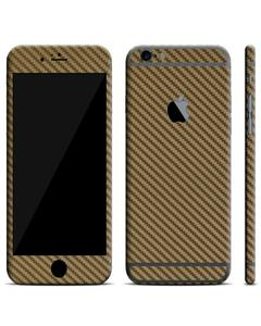 IPhone 6/6s Skin Protector - Golden Carbon