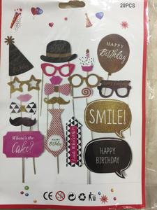 20Pcs Hen Party Photo Booth Props Happy Birthday Props Photo Bachelorette Party Decor Funny Glasses Mustache Prop