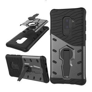 Life Eraser Non-slip Protective Case Rugged Shockproof Robot Armor Mobile Phone Cover with Bracket for Samsung S9 Plus