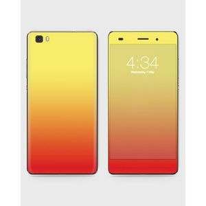Huawei Honor P8 Lite (2015) Skin Wrap Mix Color Red & Yellow - 1Wall12