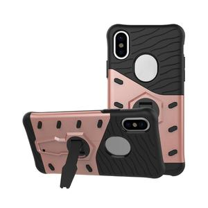 Non-slip Protective Case Rugged Shockproof Robot Armor Mobile Phone Cover with Bracket for iPhone X