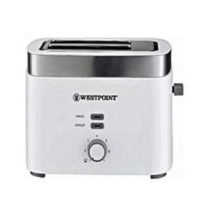 Westpoint Official WF-2583 - 2 Slice Pop-Up Toaster with Steel Cover - White
