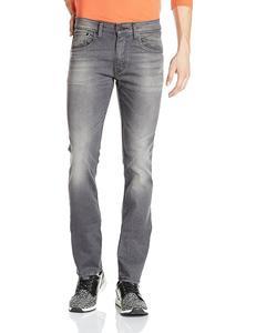 Dark Grey Slim Fit Jeans For Men