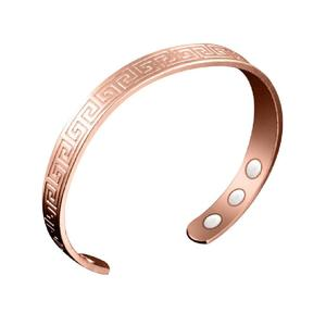 Charming Women Magnetic Health Bracelets & Bangles Open Mouth Bracelet rose gold