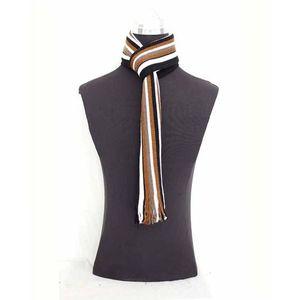 Brown & Black Woolen Muffler For Men