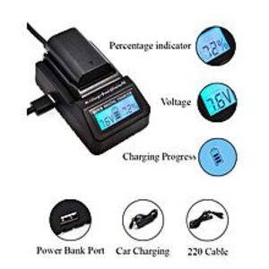 GEonlinepk Ultra Fast Charger EN-EL15 MH-25 Digital LCD Quick Replace Charger For Nikon D7200 D610 D600 D750 D810 D850