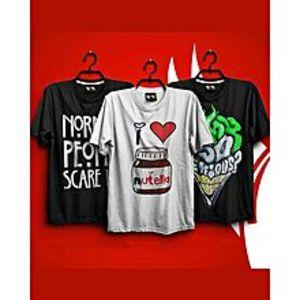 super bazarPack Of 3 Printed T-Shirt For Him