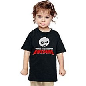Daraz KidsBlack Cotton Kung Fu Panda T-Shirt For Kids