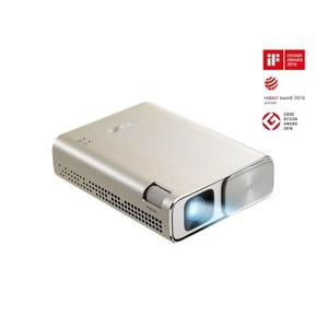 ASUS ZenBeam Go E1Z USB Pocket Projector, 150 Lumens, Built-in 6400mAh Battery, Up to 5-hour Projection time, Power Bank, Auto Keystone Correction, Micro USB / Type-C