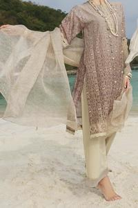 Almirah Summer Spring Collection Vol.01 2019 Brown Lawn 3pcs Stitched Suit For Women