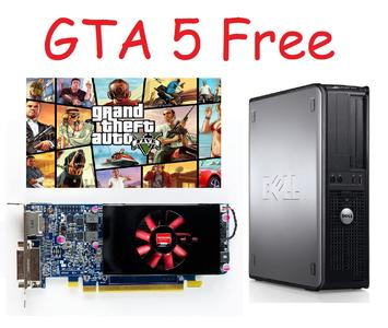 Free GTA 5 gaming PC Dell Optiplex 755 Desktop with Graphic Card HD7500 Series and Plus 4 other Games