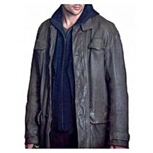 Leather CreativeBrown Leather Long Coat For Men
