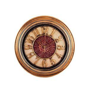 Antique Hollow Wall Clock Bronze - 14x14