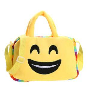 Vktech Fashion Emoji Face Expression Plush Toy Children Backpacks School Bag