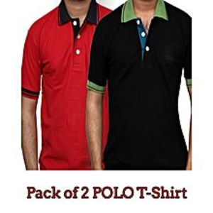 TJ FASHION Pack Of 2 Polo T-Shirts For Men