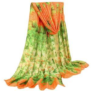 MissFortune Women's Fashion Azalea Color Long Sunscreen Shawl Balinese Sunscreen Scarf