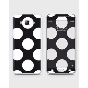 Samsung Galaxy J3 Pro Skin Wrap With Front Back And Sides BIG DOTS – BLACK-1wall79