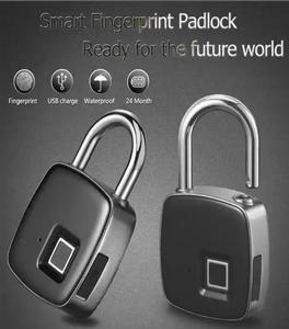Smart Fingerprint Locks Waterproof USB charge keyless smart padlock