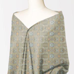 Alkaram studio Silver Collection Beige Lawn 1PC Unstitched Suit For Women -A132222106