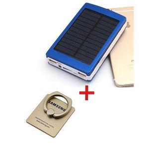 Solar Power Bank Flash Light 15000mAh - Solar Power Bank - Black