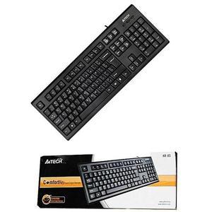 A4Tech Kr-85 Adjustable Height / Laser Inscribed Keys Keyboard - Black